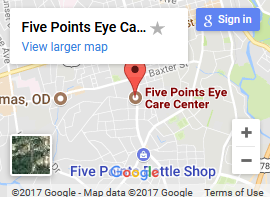 Five Points Eye Care map 1